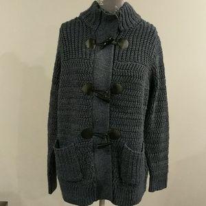 Wind River slate blue knit cardigan